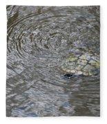 The Swimming Turtle Fleece Blanket