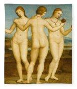 The Three Graces Fleece Blanket