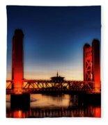 The Tower Bridge At Sunset Fleece Blanket