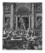 The Trevi Fountain  Fleece Blanket