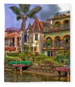 The Venice Canal Historic District Fleece Blanket