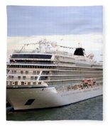 The Viking Star Cruise Liner In Venice Italy Fleece Blanket