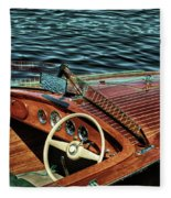 The Vintage 1958 Chris Craft Fleece Blanket