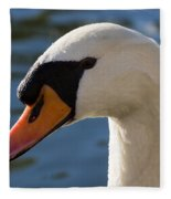 The Watchful Swan Fleece Blanket
