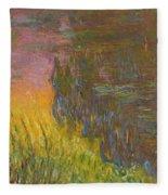 The Water Lilies, Setting Sun Fleece Blanket