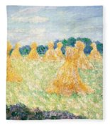 The Young Ladies Of Giverny, Sun Effect Fleece Blanket