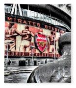Thierry Henry Statue Emirates Stadium Art Fleece Blanket