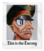 This Is The Enemy - Ww2 Poster Fleece Blanket