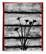 Thistles By The Barn Fleece Blanket