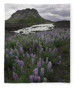 Thofafoss Waterfall Iceland 1571 Fleece Blanket