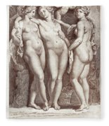 Three Graces Fleece Blanket