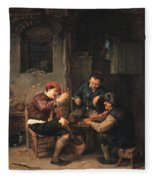 Three Peasants At An Inn Fleece Blanket