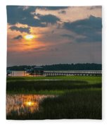 Thriving Beauty Of The Lowcountry Fleece Blanket
