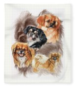 Tibetan Spaniel W/ghost Fleece Blanket