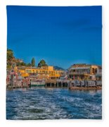 Tiburon Waterfront Fleece Blanket