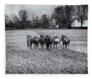 Tilling The Fields Fleece Blanket