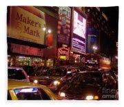 Times Square Night Fleece Blanket