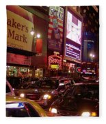 Times Square Night Fleece Blanket