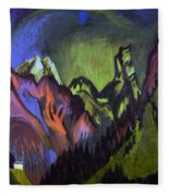 Tinzenhorn Zugen Gorge Near Monstein Fleece Blanket