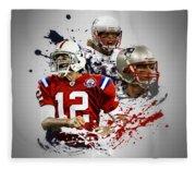 Tom Brady Patriots Fleece Blanket