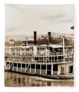 Tom Greene River Boat Fleece Blanket