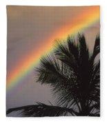 Top Of A Palm Tree Fleece Blanket