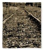 Tracks  To Where Fleece Blanket