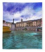 Trafalgar Square Fountain London 5 Art B Fleece Blanket