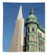 Transamerica Pyramid Building Fleece Blanket
