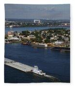 Transportation - Shipping On The Mississippi River Fleece Blanket