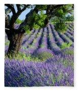 Tree In Lavender Fleece Blanket