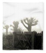 Trees In The Fog Fleece Blanket