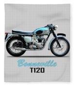 Triumph Bonneville Fleece Blanket