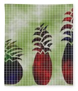 Tropical Fruit Fleece Blanket