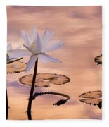 Tropical Lily Fleece Blanket