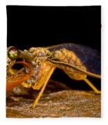 Tropical Mantispid Fleece Blanket