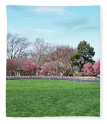 Tulips In The Park. Fleece Blanket