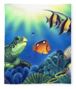 Turtle Dreams Fleece Blanket