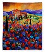 Tuscany Poppies  Fleece Blanket