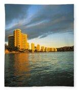 Twilight Waikiki Fleece Blanket