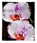 Twin Orchids Fleece Blanket