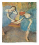 Two Dancers At Rest Fleece Blanket