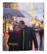 Ula And Wojtek Engagement 12 Fleece Blanket
