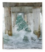 Under The Boardwalk Fleece Blanket