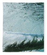 Underwater Barrel Fleece Blanket