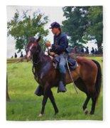 Union Cavalryman Fleece Blanket