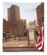 Urban Flag Man Fleece Blanket