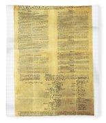 U.s Constitution Fleece Blanket