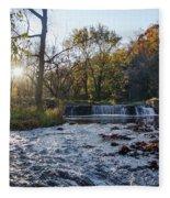 Valley Creek Waterfall - Valley Forge Pa Fleece Blanket