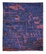 Valley Of Fire Petroglyphs Fleece Blanket